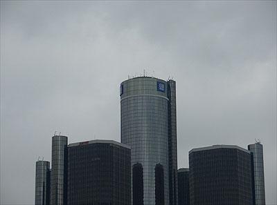 Edifício-sede da General Motors na região central de Detroit, nos EUA